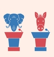 donkey and elephant as a orators symbols vote vector image vector image
