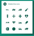 drive icons vector image vector image