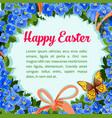 easter flower wreath paschal wreath poster vector image vector image