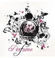 elegant perfume bottle fashion poster vector image