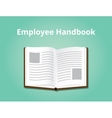 employee handbook with books open and vector image