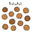 falafel middle eastern cuisine arabic traditional vector image vector image