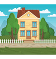 Flat home architectural Stylish european design vector image