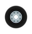flat icon of automobile wheel car disk vector image vector image