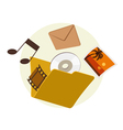 folder content vector image vector image