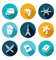 French Foreign Legion Icons Set vector image vector image