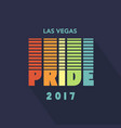 gay pride 2017 creative poster rainbow flag vector image