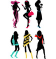 glam shopping girls vector image vector image