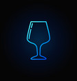 glass thin line blue icon vector image