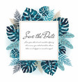 greeting card with exotic leaves vector image vector image
