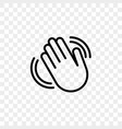 hand waving flat icon vector image