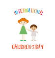 happy childrens day greeting card vector image vector image