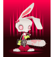 Horror bunny with background vector image vector image