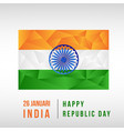indian national day low poly vector image vector image