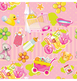its a girl pattern vector image vector image