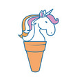 magical unicorns design vector image vector image
