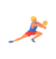 man volleyball player playing with ball wearing vector image vector image