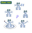 modern realistic robots frog vector image
