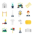 Museum Icons Flat vector image vector image