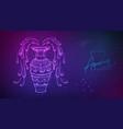 neon fluid astrology aquarius zodiac sign