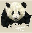panda in mosaic style vector image vector image