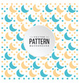 pattern blue orange crescent moon background vector image vector image