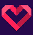pink heart icon love icon vector image vector image