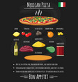 pizza mexican recipe vector image