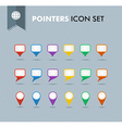 pointers and speech bubbles icons set eps10 file vector image