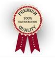 premium quality labels with retro vintage design vector image vector image