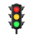 realistic traffic lights vector image vector image