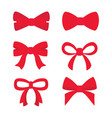 red bow set for your design vector image