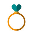 ring heart flat shadow vector image vector image