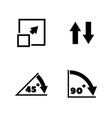 rotate arrow turn simple related icons vector image vector image