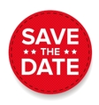 Save the Date label vector image