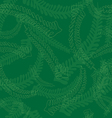 Seamless Fern Leaves Pattern in Green Colors vector image vector image