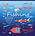 set elements for fishing vector image