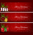 set of christmas banners with gift boxesbag and c vector image