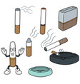 set of cigarettes vector image