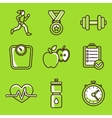 set of fitness icons vector image vector image