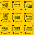 Set of motivational quotes about wisdom vector image vector image