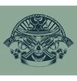 sheriffs skull vector image vector image
