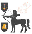 Shooting Centaur Archer vector image