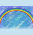 sky with rainbow and rain vector image vector image