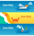 Summer Holidays Banner with Sea Crab vector image vector image