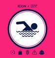 swim icon symbol vector image