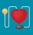 tonometer with heart flat icon vector image