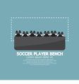 Top View Of Soccer Player Bench vector image vector image
