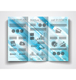 tri fold brochure template design or flyer layout vector image vector image