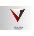 Triangle logo motif template vector image vector image